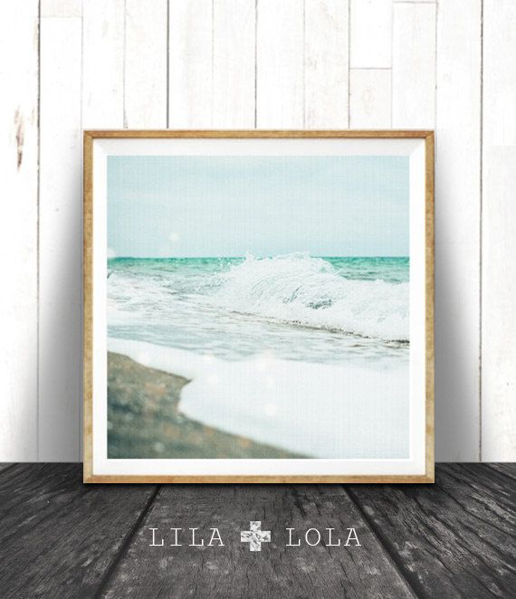 Beach Print Coastal Photo Wall Art Ocean Print by lilandlola