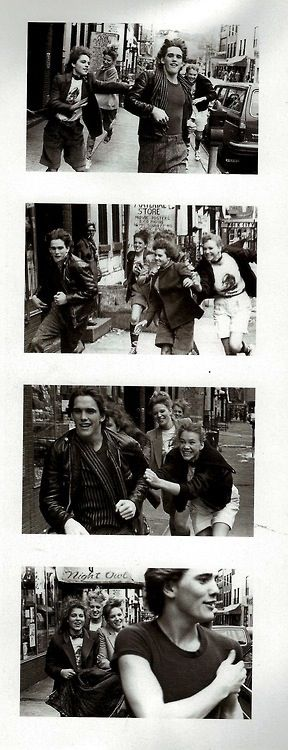 Matt Dillon getting chased by fangirls... I would be one of them.