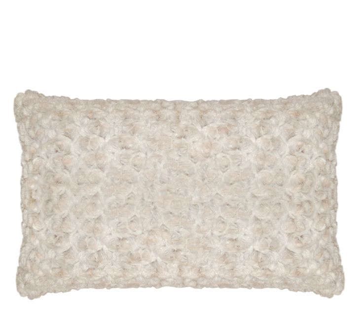 Rosebud Pillow - Add character and personality to your sofa, bedroom or your favorite chair with this luxurious and plush boudoir pillow. The ultra soft faux fur is