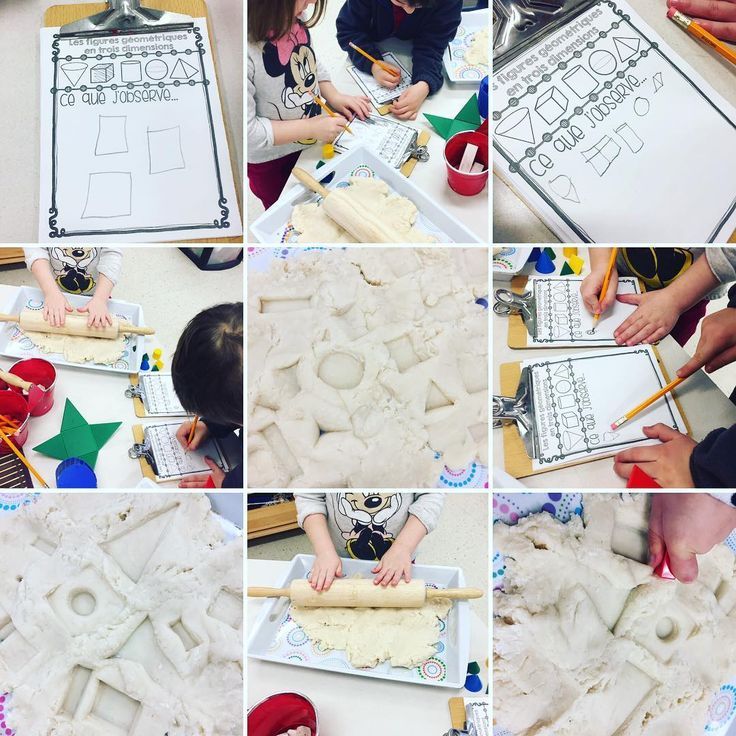 "37 Likes, 2 Comments - Laura King (@kindergartenteachertired) on Instagram: ""Exploring the sides of 3D figures using wooden shapes, shape nets and playdough! A freebie of the…"""