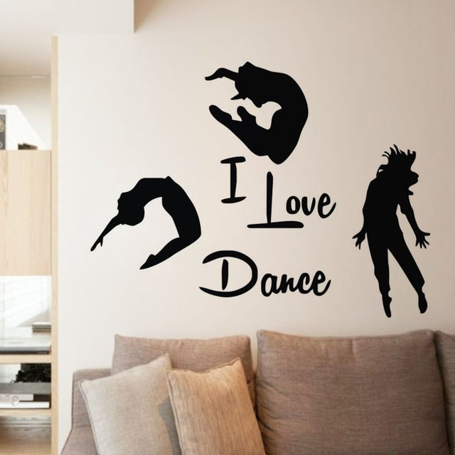 Special offer EHome I Love Dance Wall Stickers Home Decor Three Dancers Wall Murals Adhesive Vinyl Wall Decals Bedroom Decoration just only $4.28 - 11.62 with free shipping worldwide  #wallstickers Plese click on picture to see our special price for you
