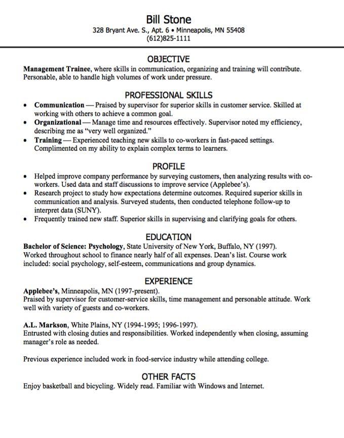 925 best Example Resume CV images on Pinterest   Communication ...