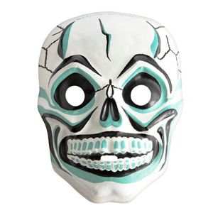 Typically molded into the shape of animals or ghouls, masks dating from the 1950s and '60s—like this mid-1960s glow-in-the-dark skull