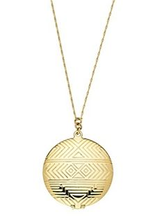 Gold Medallion Locket Pendant: Houses Of Harlow, Harlow 1960, Lockets Pendants, Pendants Necklaces, Houseofharlow, Gold Medallions, Gold Necklaces, Medallions Lockets, Products