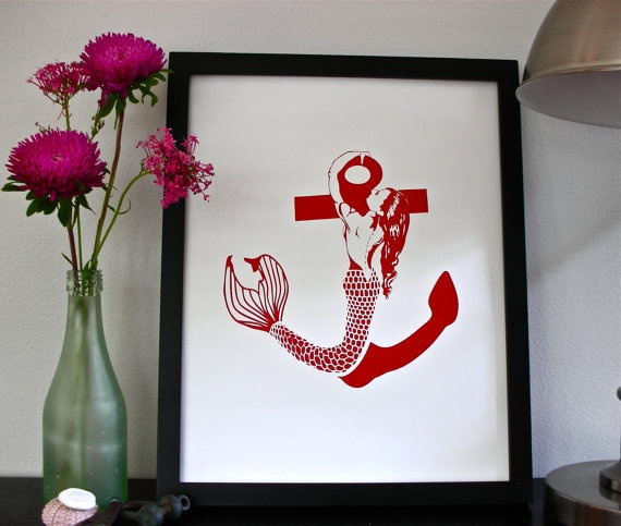 Definitely the next tattoo I am getting - Mermaid Anchor by AlainaMariePrints