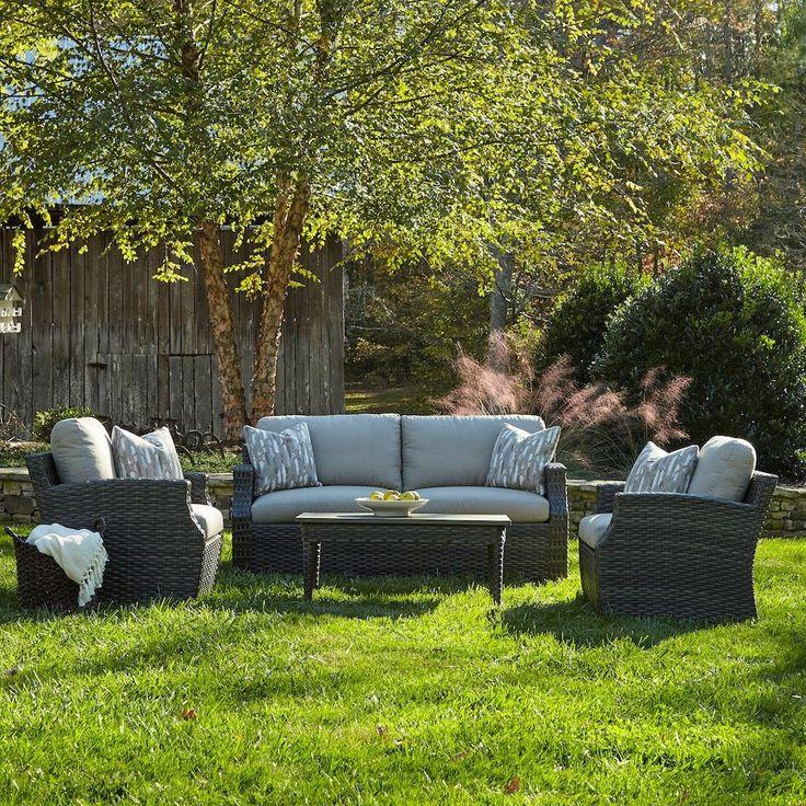 Klaussner Cascade 4-piece Brown Wicker Outdoor Furniture Set (Cascade 4-piece Set - Desert), Beige, Size 4-Piece Sets, Patio Furniture