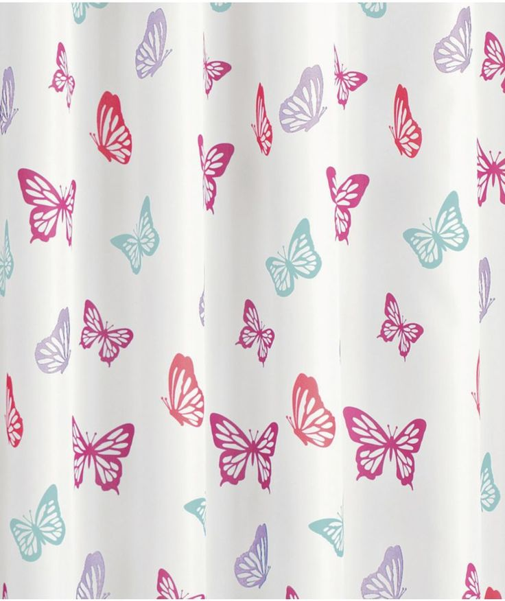 Buy Butterfly Shower Curtain at Argos.co.uk - Your Online Shop for Shower curtains and poles.