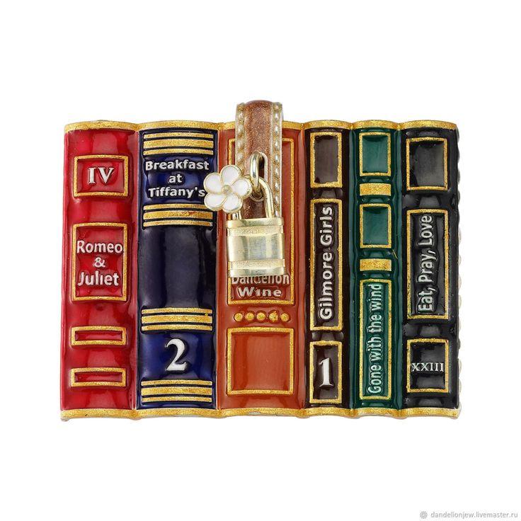 """Купить Брошь ручной работы """"Stylish Book"""" в интернет магазине на Ярмарке Мастеров"""