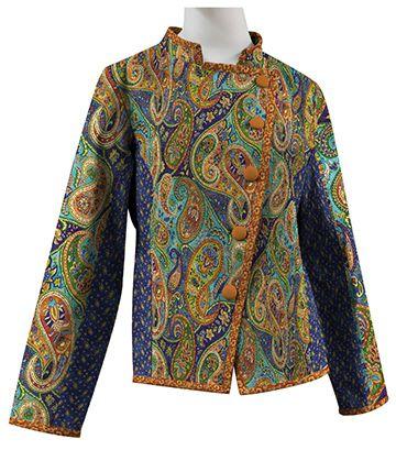 Saratoga Patchwork Jacket - PTN974 MorninGlory Designs Based on Bohemian Rhapsody collection - by Deborah Edwards Northcott Studio.