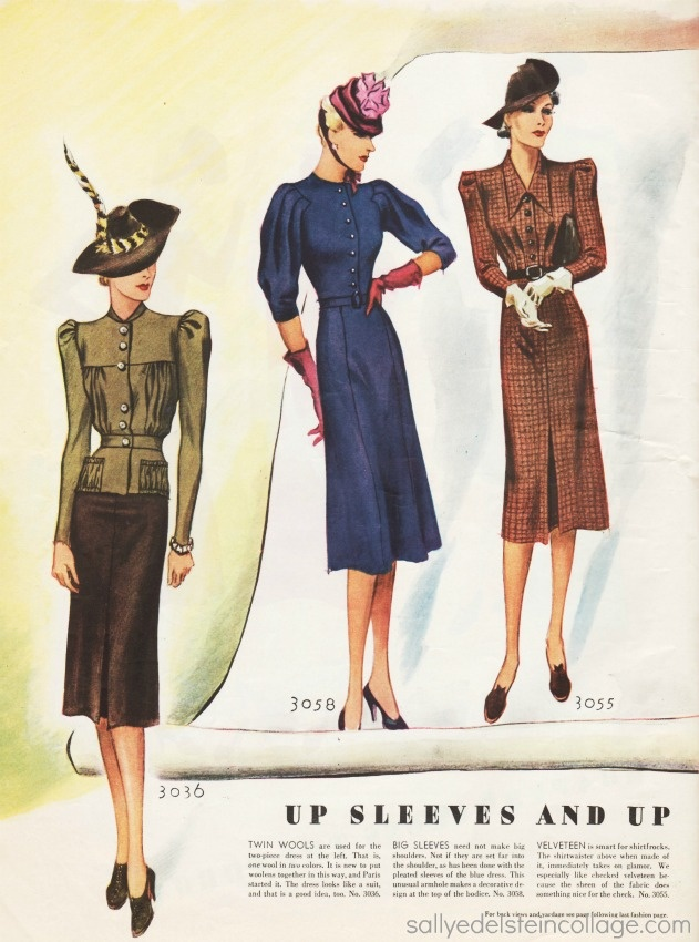 Vintage women's fashion 1939