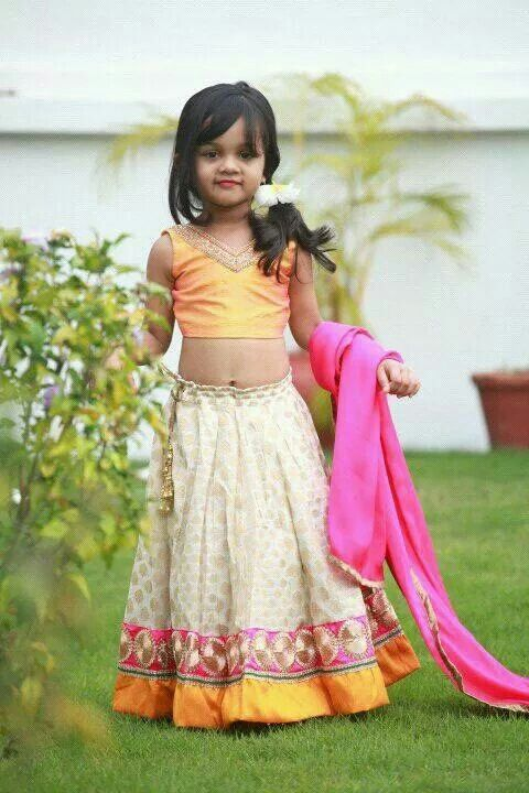 Cute Pie In Beautiful Lehenga