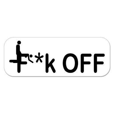 F off adult rude humor car bumper sticker decal 8