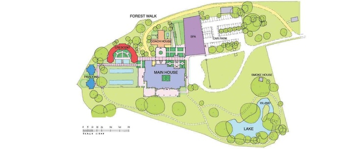 Lime Wood Layout - Limewood - New Forest Luxury Country House Hotel England, 5 Star Hotel Hampshire