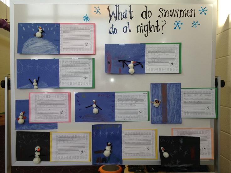 Winter Creative Writing: What do snowmen do at night?