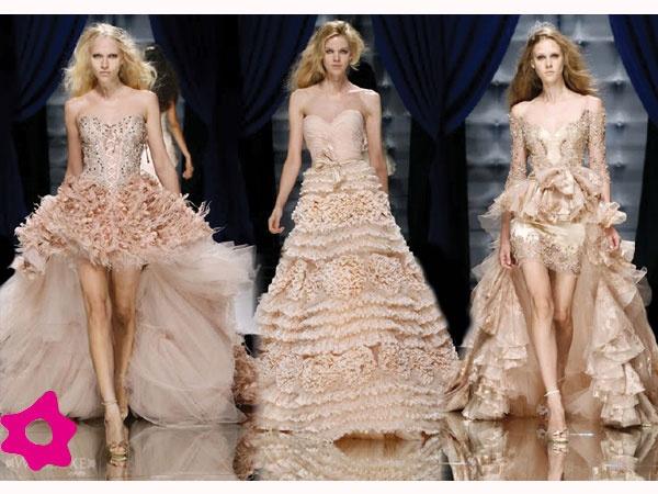 Vestidos de noiva rosê