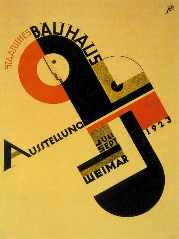 Joost Schmidt, Bauhaus exhibition poster, 1923.