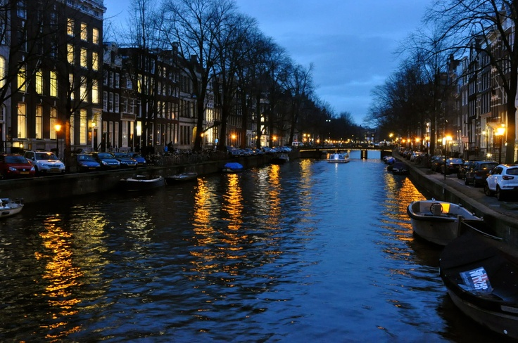 Amsterdam in the winter. Who says Paris is the City of Light?