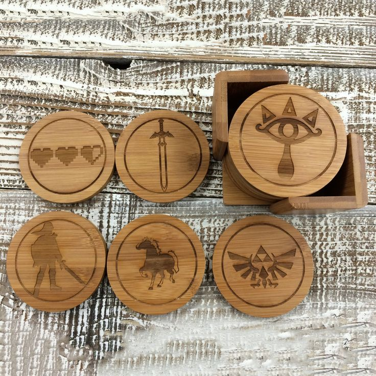 Make it matter more with a set of beautifully engraved coasters that are stylish—and protect furniture surfaces from heat, cold and moisture. A set includes 6 bamboo coasters with holder.