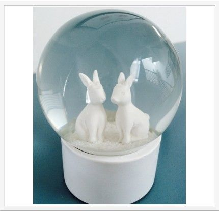 LumleyLocket.com - Today's Gifts, Tomorrow's Treasures - Snow Globe White Rabbit