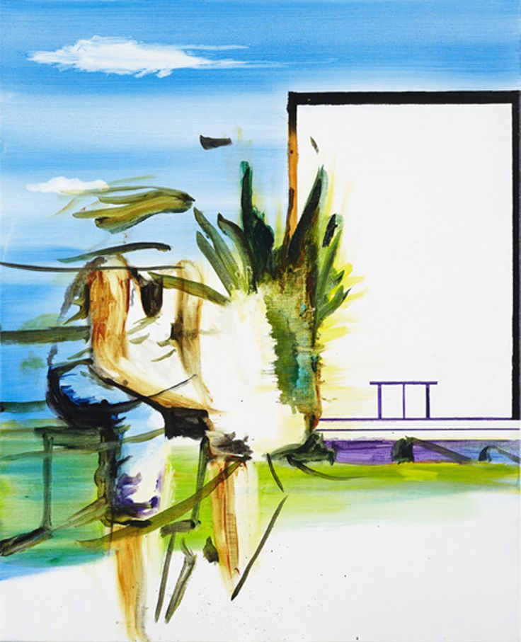 John Körner, Waiting Together With A New Museum, Acrylic on canvas, 2009