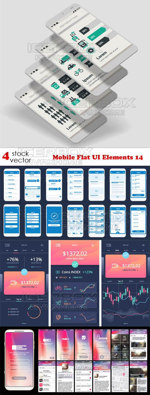 Vectors  Mobile Flat UI Elements 14 Free Download http://ift.tt/2rPXLGO