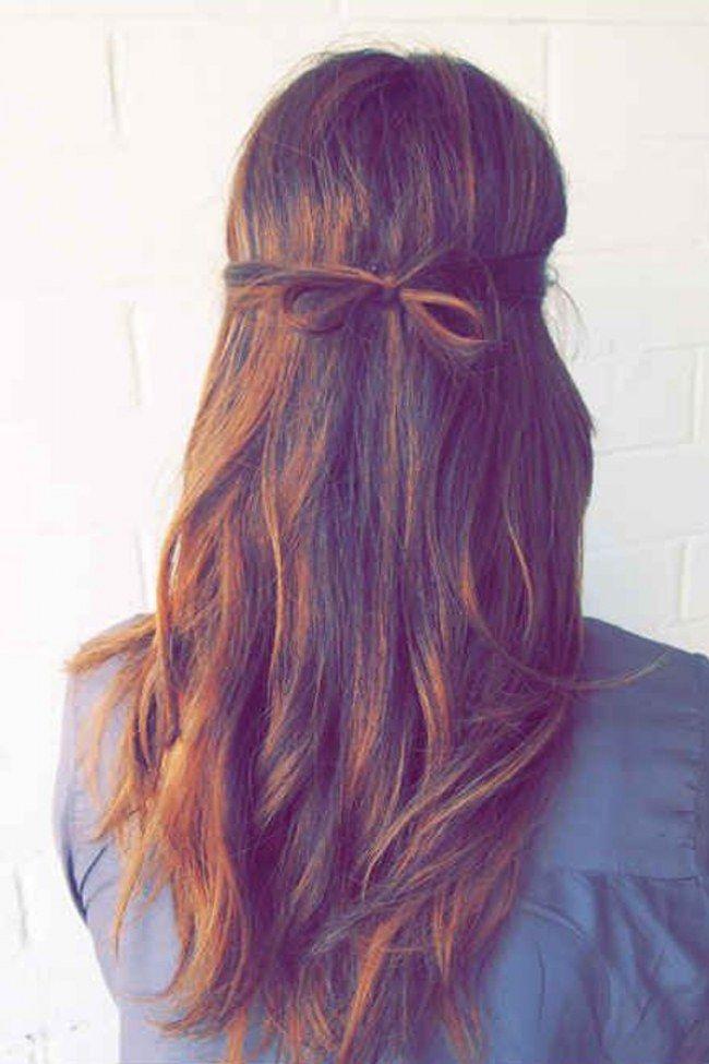 kleine Schleife im Haar