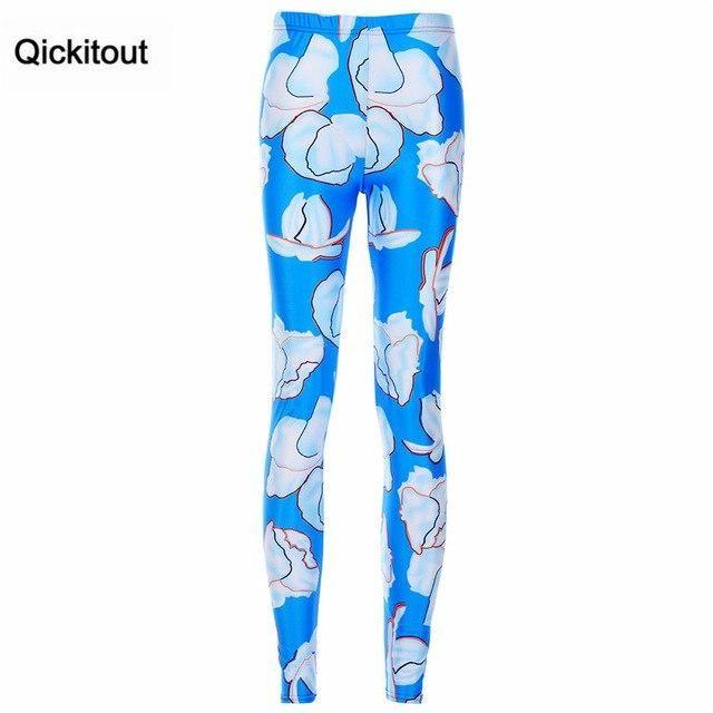 Leggings Summer Watercolor Striped Lion Cherry Leggings Leggings Digital Printing Pants Trousers 10 L
