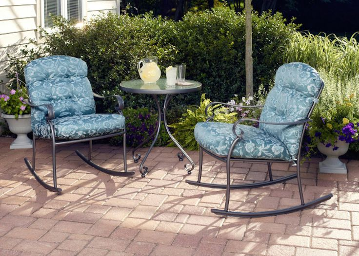 Details About Patio Furniture Clearance Sale Small Table And Chairs Rockers  Round Table Set
