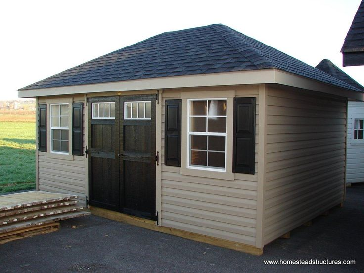 12 X 16 Classic Hip Roof Shed Vinyl Siding