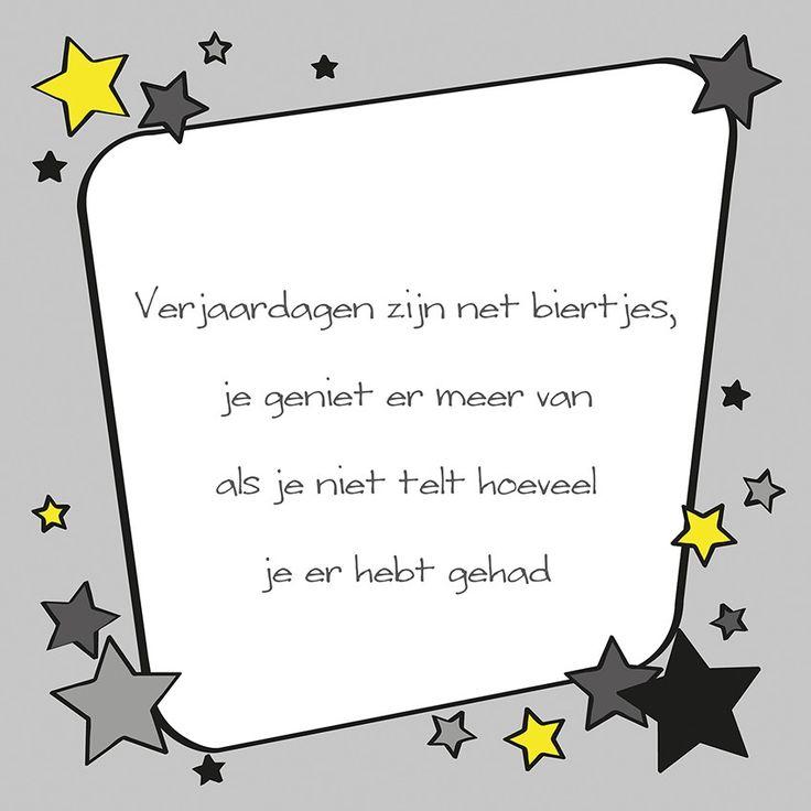 Tegeltjeswijsheid.nl - een uniek presentje - Verjaardagen zijn net biertjes