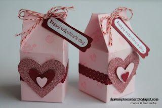 Valentine Milk Carton Favors