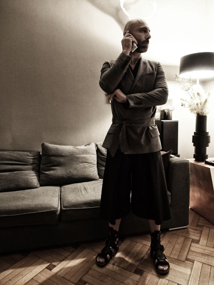Cool wool blazer, Dior By Heidi Slimane  private collection Cool wool  Jupe culotte, yiorgoseleftheriades.com shoes burberry.com