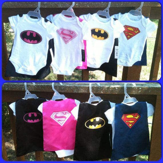 Superhero Baby Outfit with Detachable Satin Cape and Mask, Apparel or Costume, Super Hero Bodysuit