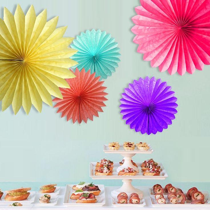 Decoratieve Bruiloft Papier Ambachten 15/20/25/30 CM 1 STKS Bloem Origami Papier Fan DIY Bruiloft Verjaardagsfeestje Decoraties Levert Kids