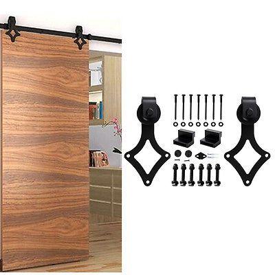 1,5-3M Schiebetürbeschlag Satz Raumteiler Schiebetürsystem Aufhänger Schiebetür