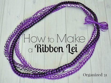 How to Make a Ribbon Lei – #lei #Ribbon