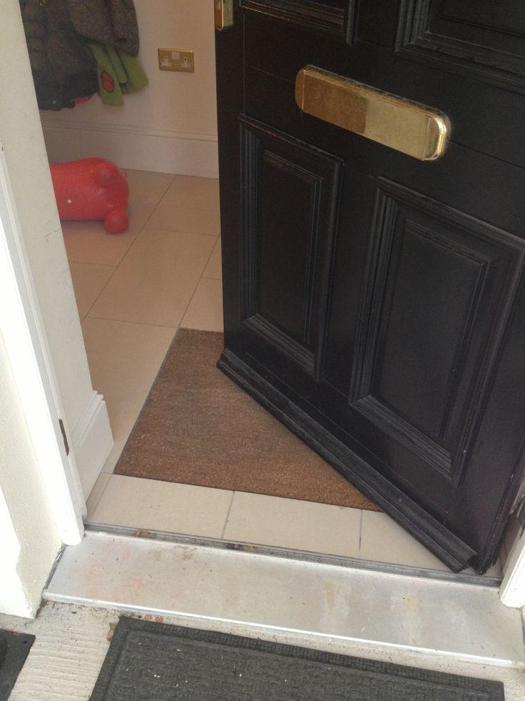 Recessed mat at back door mudrooms in the garage for New back door