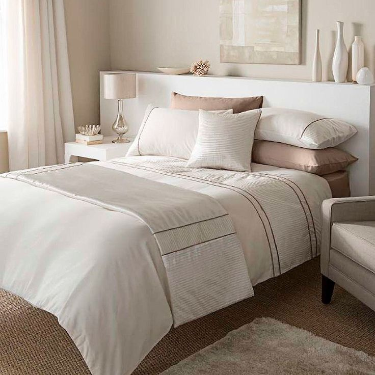 Catherine Lansfield Heat Seal Natural Duvet Quilt Cover Bedding Set King Size In Home