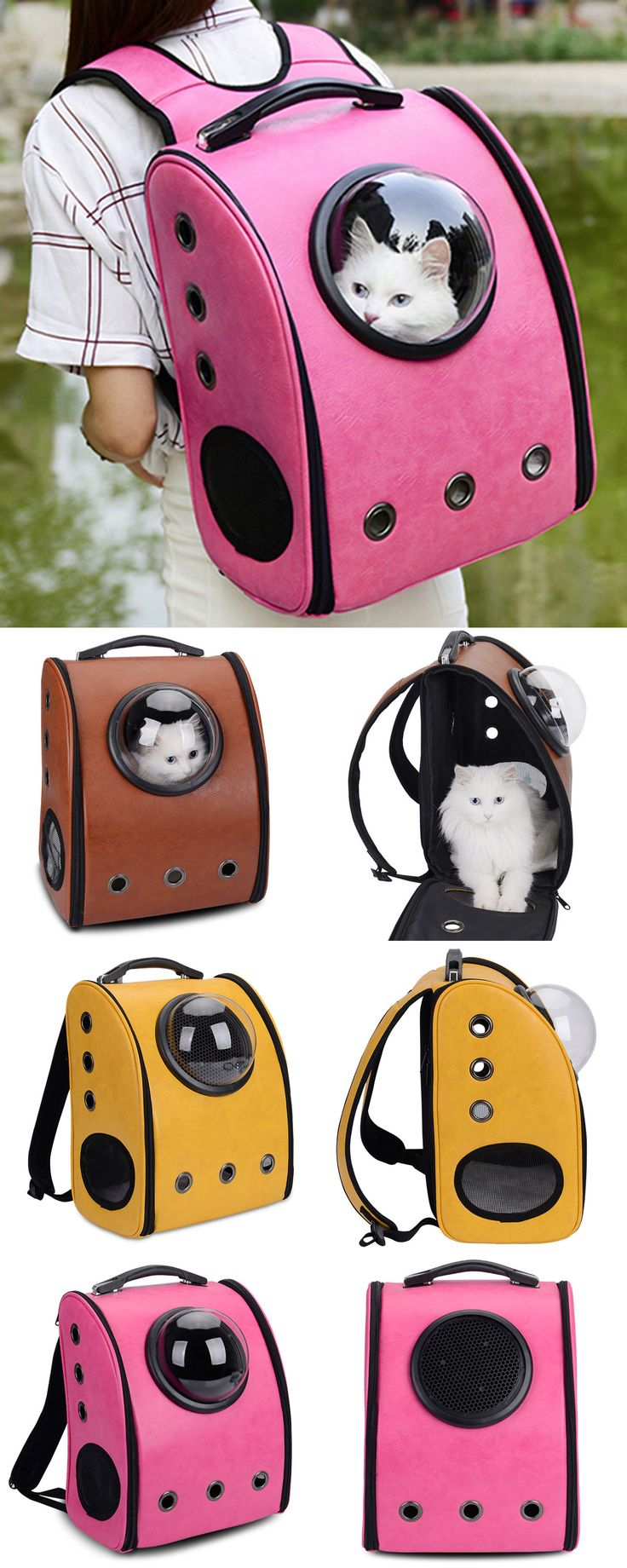 $22.54,Breathable Grommet Space Capsule Backpack - Brown | Rosewholesale,rosewholesale.com,rosewholesale bag,rosewholesale for women,rosewholesale clothes,rosewholesale.com clothing,rosewholesale plus size,backpack,cat,pet,pet bags,pet carriers,Pet Package,pet cages,pet supplies,pet leashes &collars,pet houses &beds | #rosewholesale #backpack #petcarrier #pets