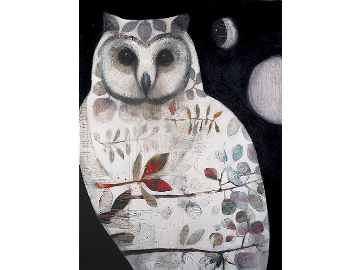 tiffany calder kingston - this is the painting I first saw in a window of a New Farm art gallery. Was astounding. The eyes were magical. Should've bought it but it was huge & had nowhere to put it. Sigh...