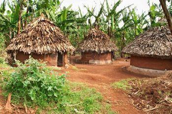 village africain: Huttes traditionnelles africaines