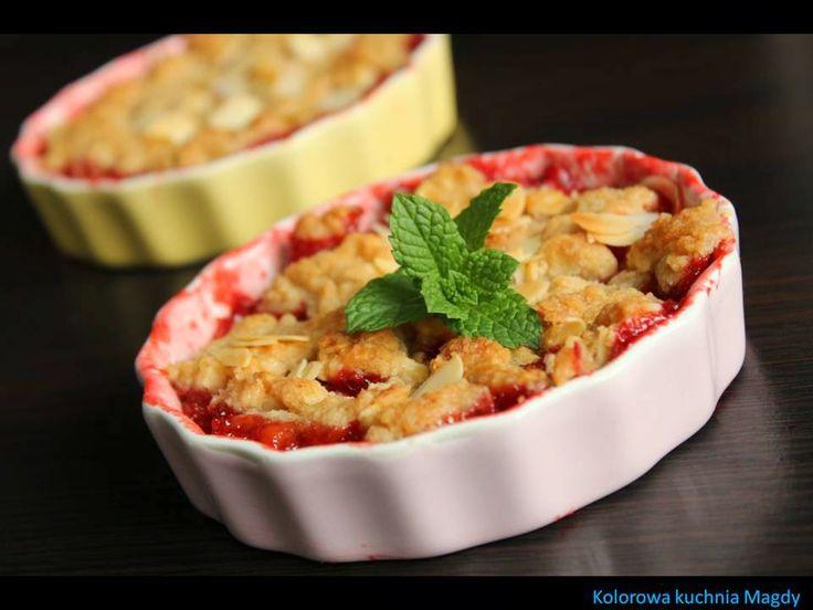Kolorowa Kuchnia Magdy: Crumble z truskawkami