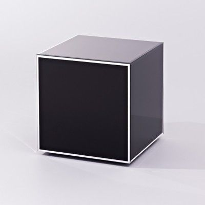 Contemporary Mirrored Cube Table - Cube Couture #4livinguk