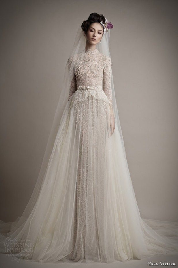 Muslim-wedding-dresses-3 46 Fabulous Wedding Dresses for Muslim Brides 2016