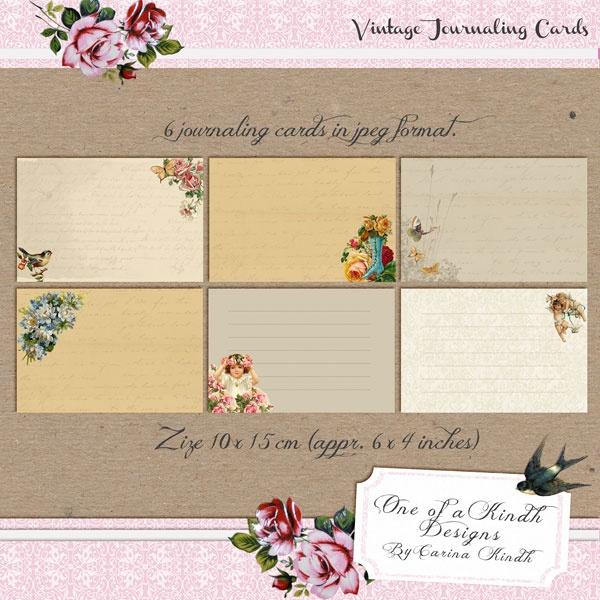 Vintage journaling cards