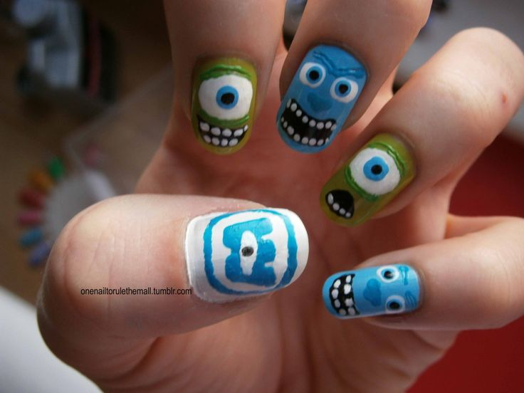 15 best monsters inc nails images on Pinterest | Monster inc nails ...