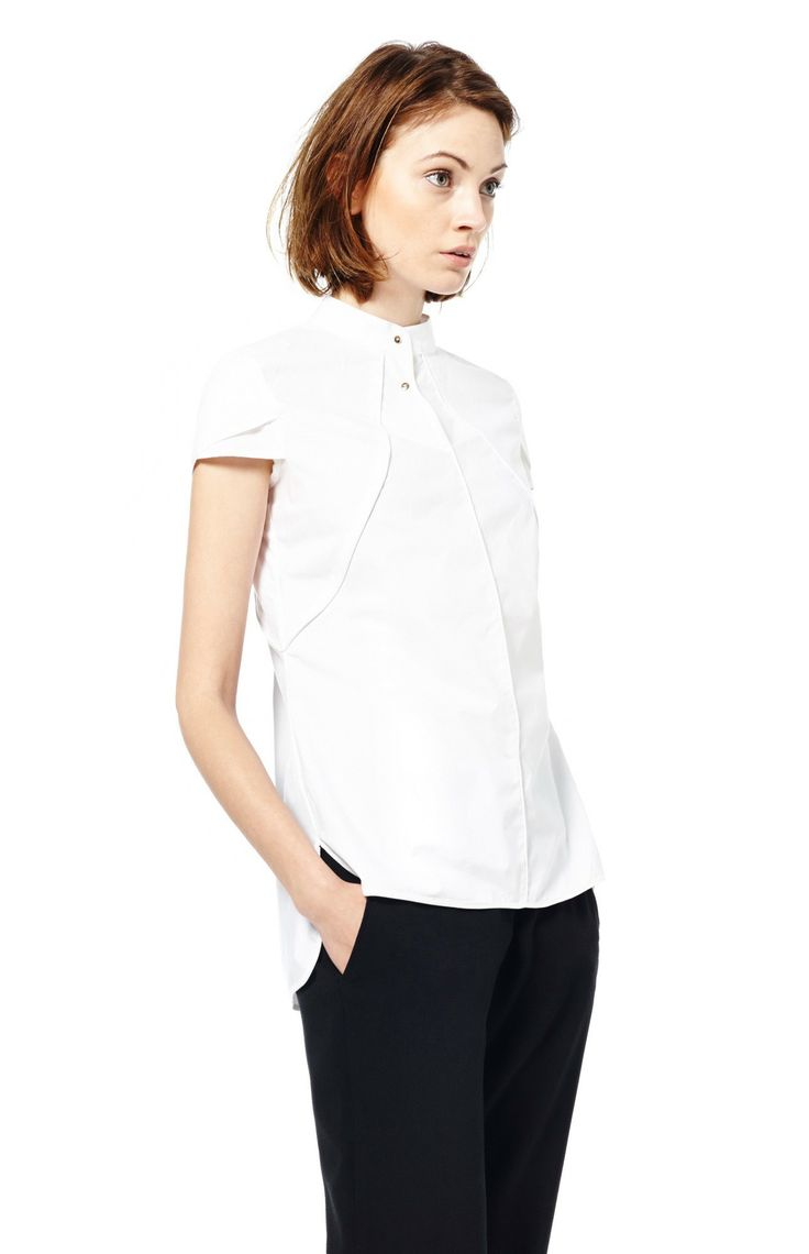 Camisa manga superpuesta - camisas & tops | Adolfo ...
