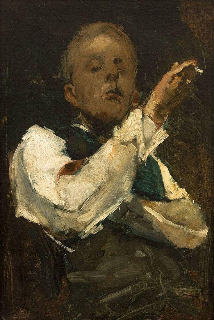 George Hendrik Breitner, 1857 - 1923. Self-portrait, 1882, oil on canvas, 40 x 30 cm,   Museum Boijmans Van Beuningen