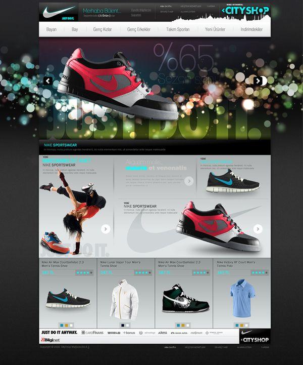 Nike CityShop e-Commerce Design by Bülent AVCI, via Behance