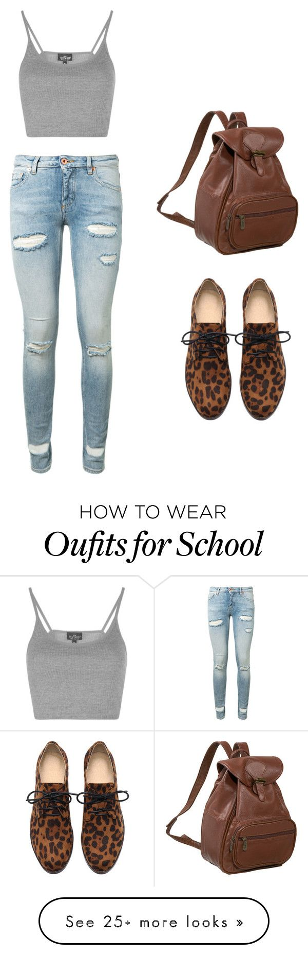 """""""to school"""" by bojanna07fashion on Polyvore featuring Off-White, AmeriLeather and Topshop"""